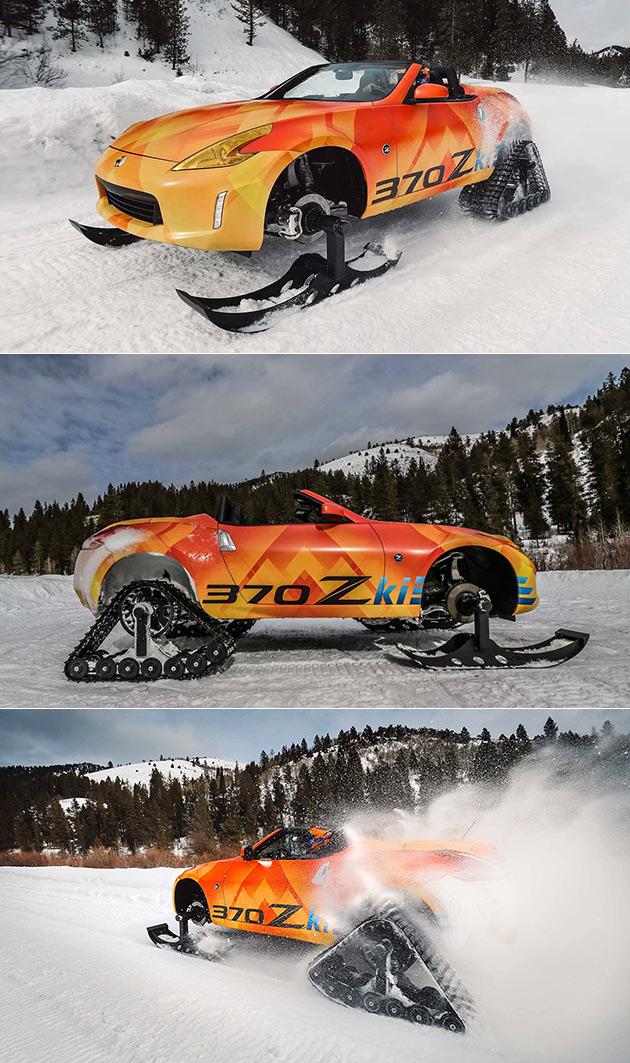 Nissan 370Z Snowmobile