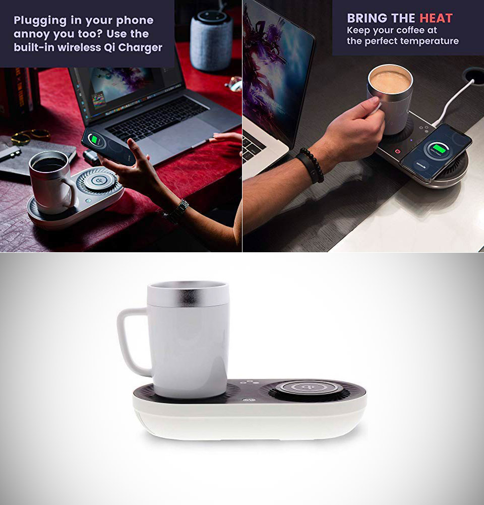 Nomodo Qi Wireless Charger Mug Cup Warmer