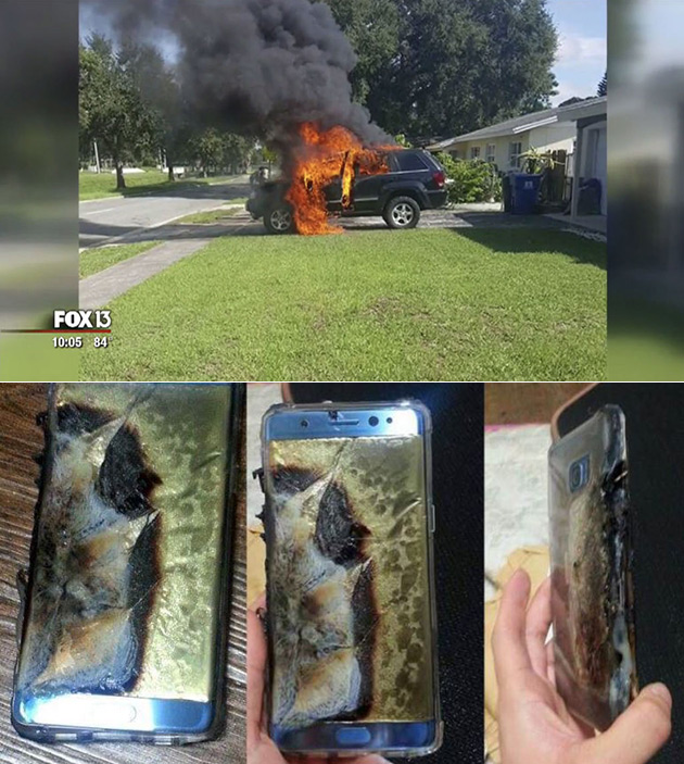 Note 7 Explodes