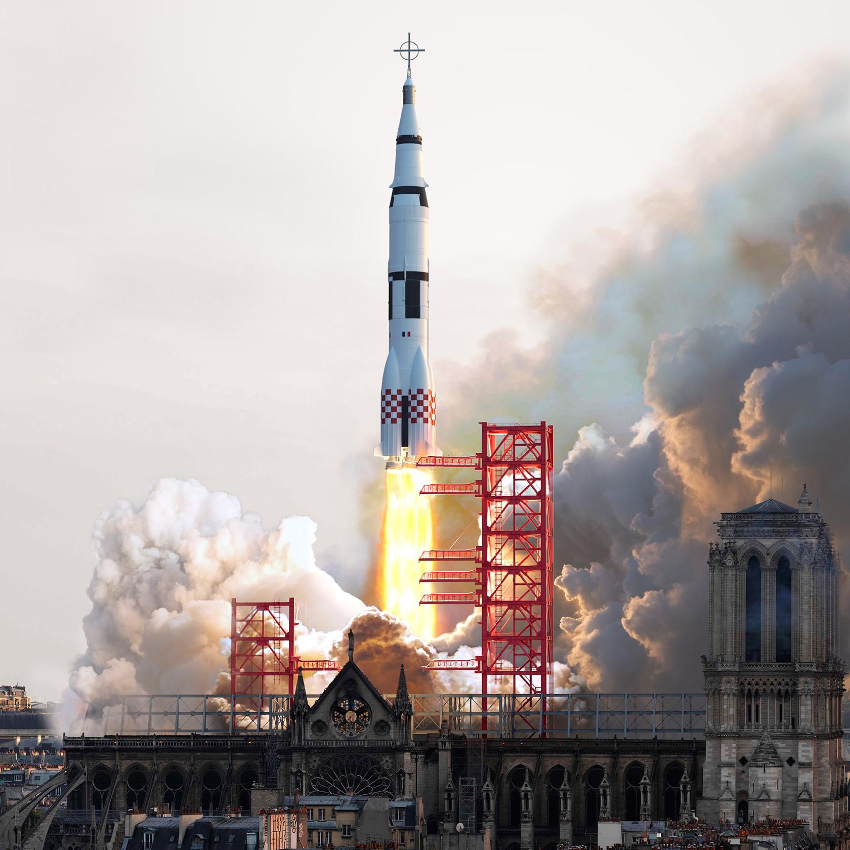 Notre Dame Cathedral Rocket