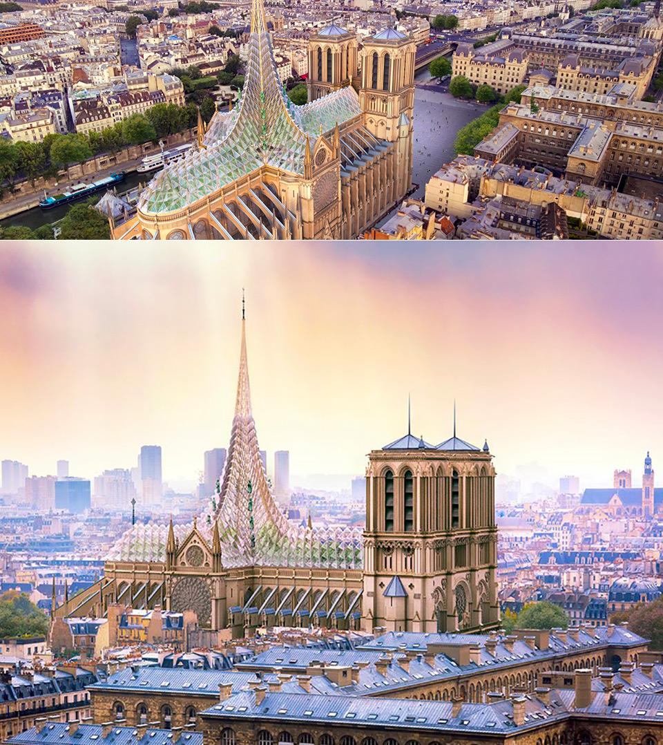Notre Dame Restoration Glass Canopy