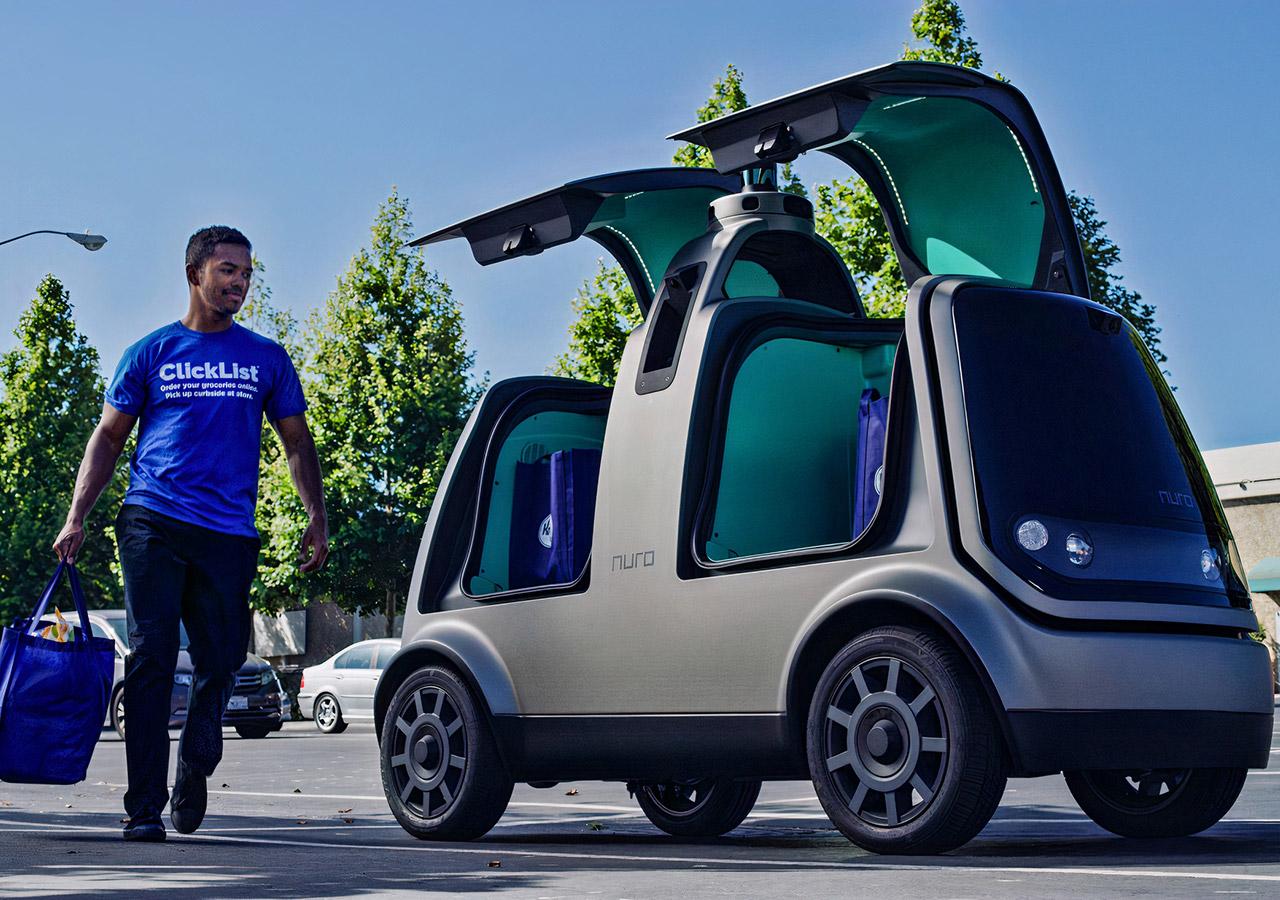 Nuro Self-Driving Car Delivery California