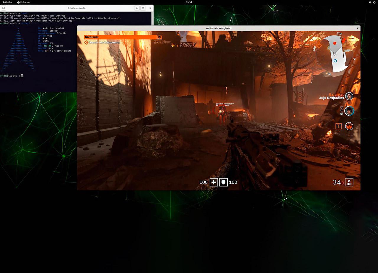 NVIDIA ARM RTX Demo Wolfenstein Youngblood GDC