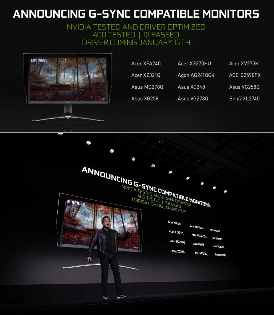 NVIDIA G-Sync FreeSync CES