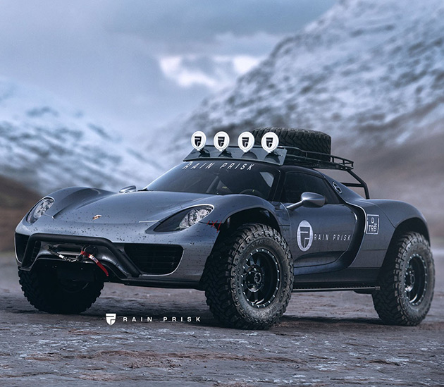 Off-Road Porsche 918 Spyder
