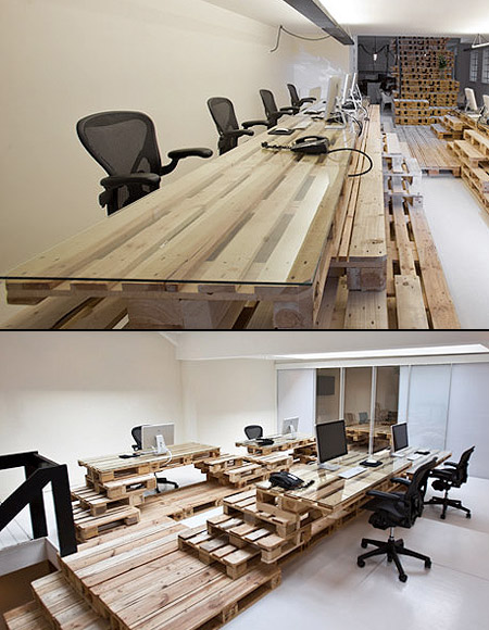 creative office partitions. Creative Office Furniture Made From Wooden Pallets Partitions