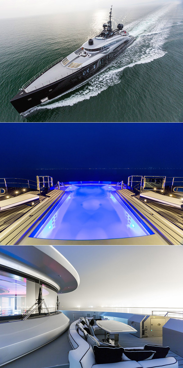 OKTO Superyacht is a Floating Mansion with a Giant Pool and