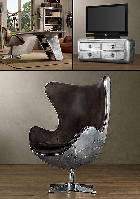 Incredible Furniture Made From Old Airplane Parts Techeblog
