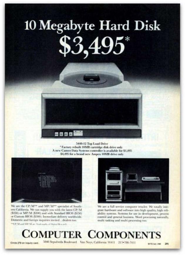 Old Computer Ad Hard Drive