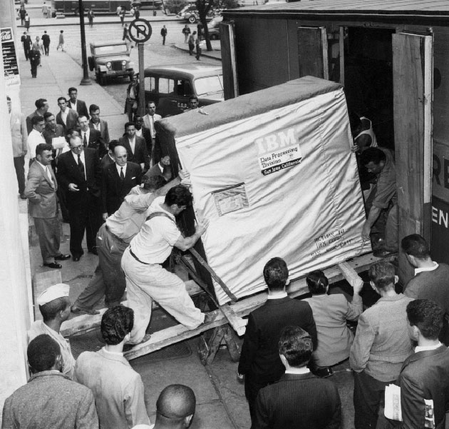 Old Hard Drive 1950s IBM