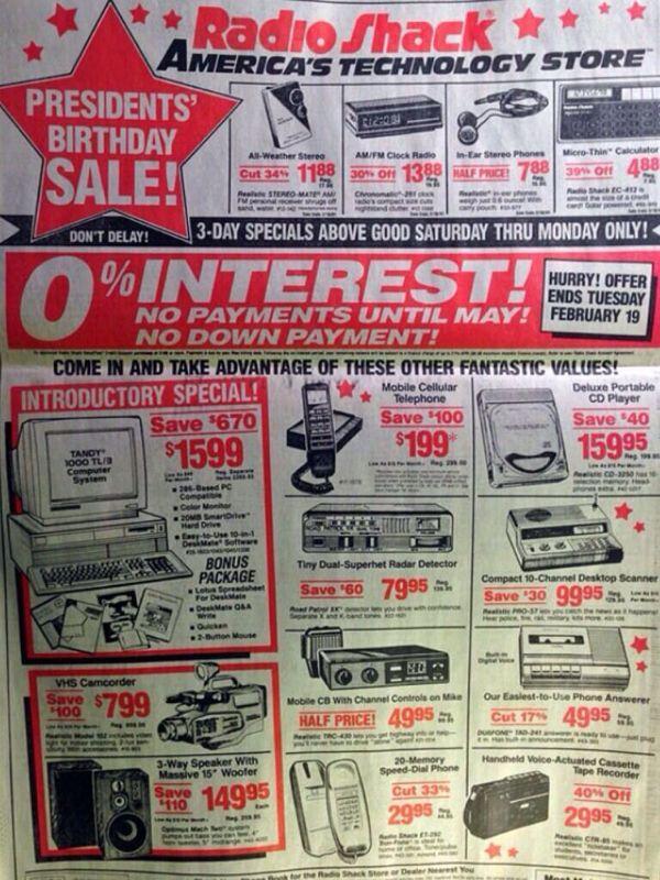 Old Radioshack Ad