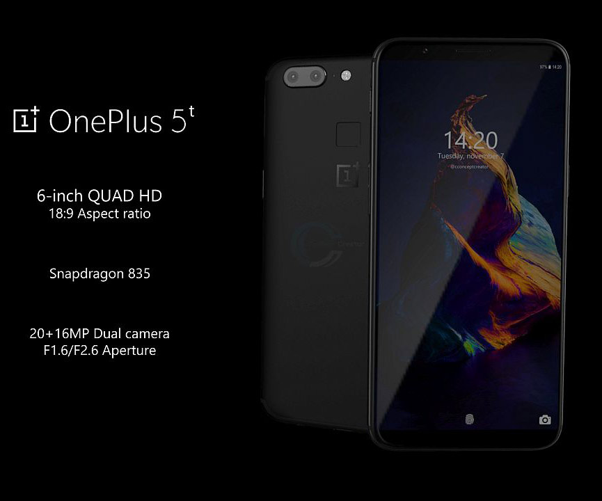 One Plus 5T Smartphone Boasts 6