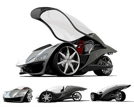 One-Seat Sports Car Has Fighter Jet Canopy - TechEBlog