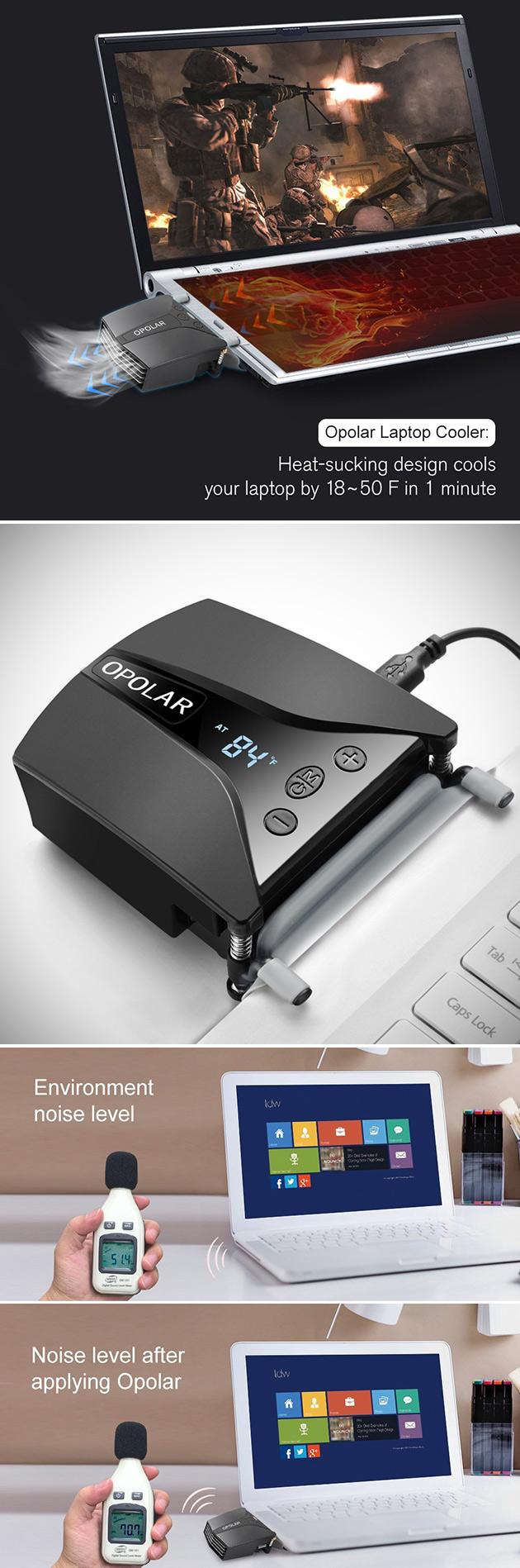 Opolar LC06 Laptop Fan Cooler Has Integrated Temp Display