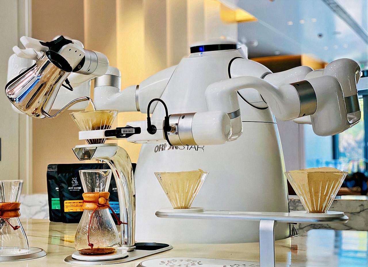 OrionStar Robotic Coffee Master Robot