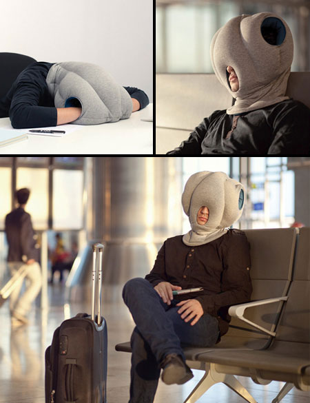 Strange Ostrich Pillow Lets You Sleep Anywhere Turns You Into An Alien Techeblog
