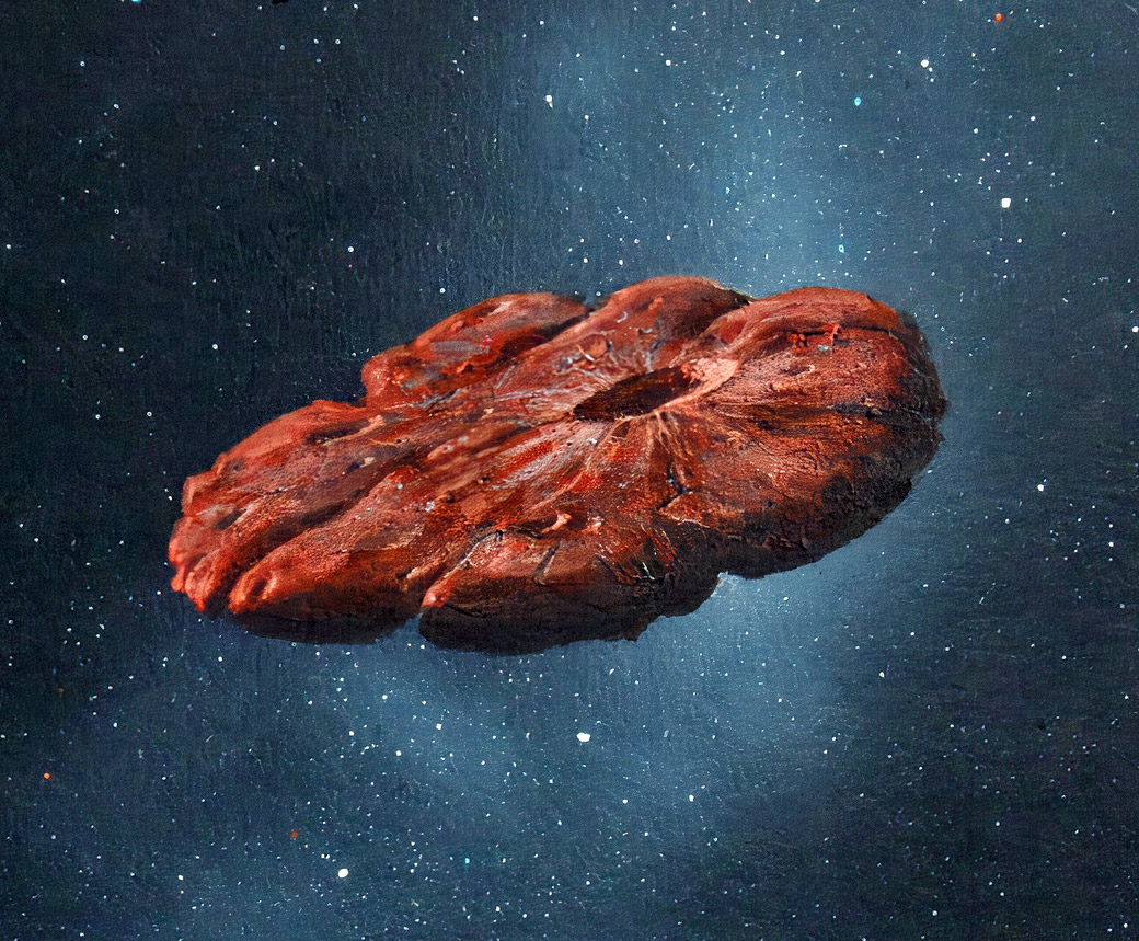 Oumuamua Pluto Solar System Asteroid