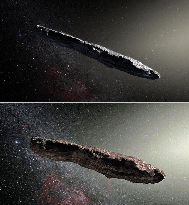 Oumuamua Asteroid Cigar Shaped Probe