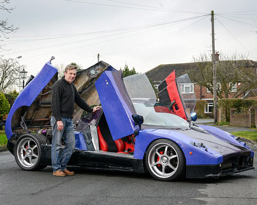 Auto Enthusiast Spends 5-Years Building Pagani Zonda Replica from Scratch