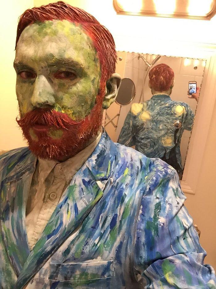 Painted Van Gogh Selfie