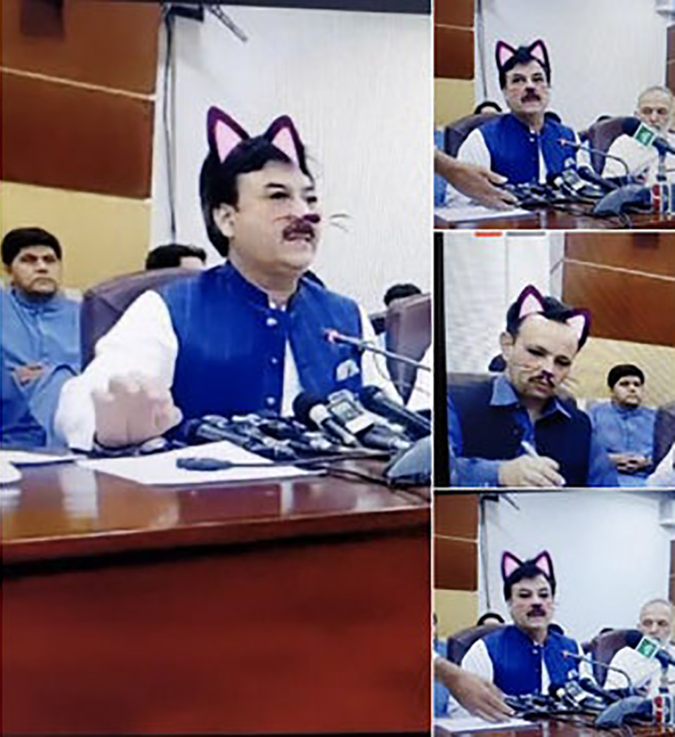 Pakistani Politicians Facebook Cat Filter