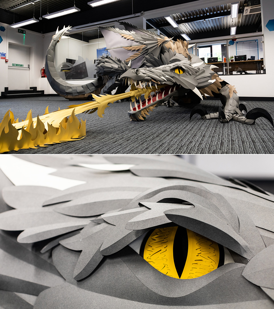 Paper game of Thrones Dragon