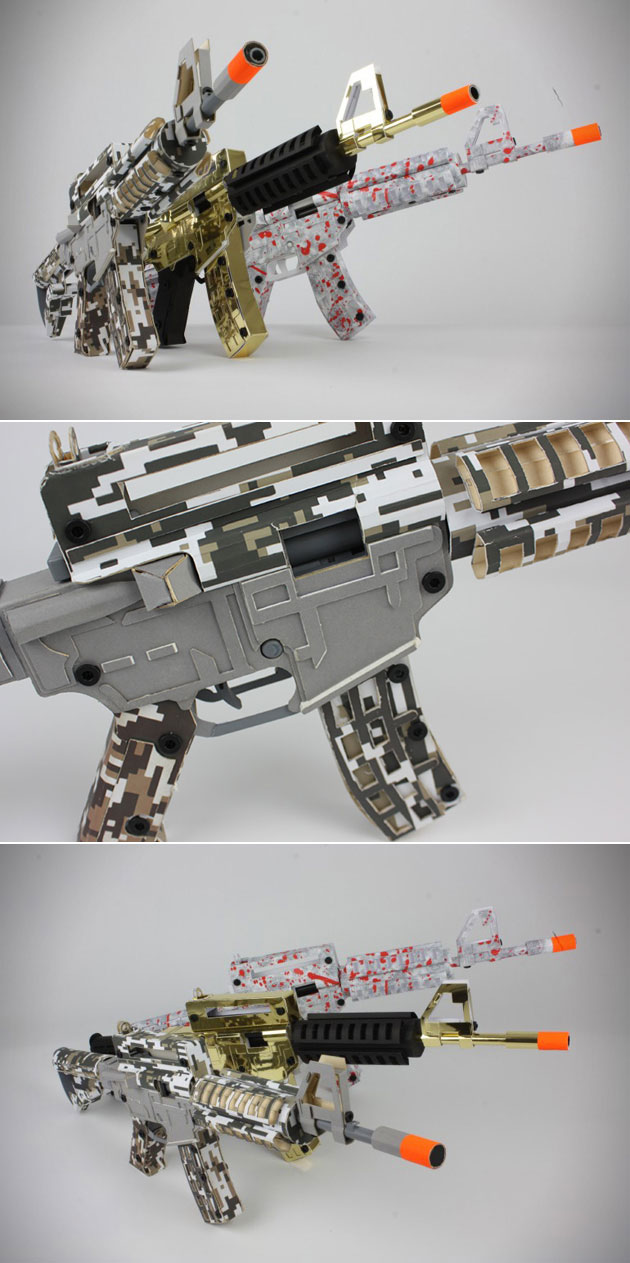 Paper Shooters Assault Rifle