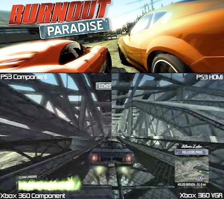 VIDEO: Burnout Paradise – PS3 vs  Xbox 360 Graphics