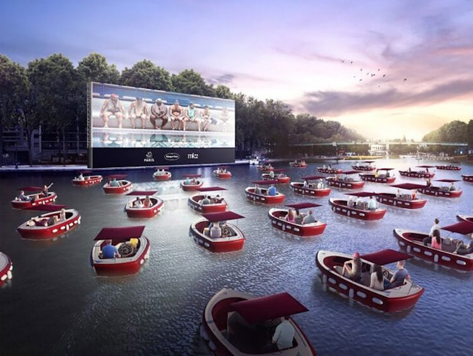 Paris-Plages Floating Movie Theater Cinema