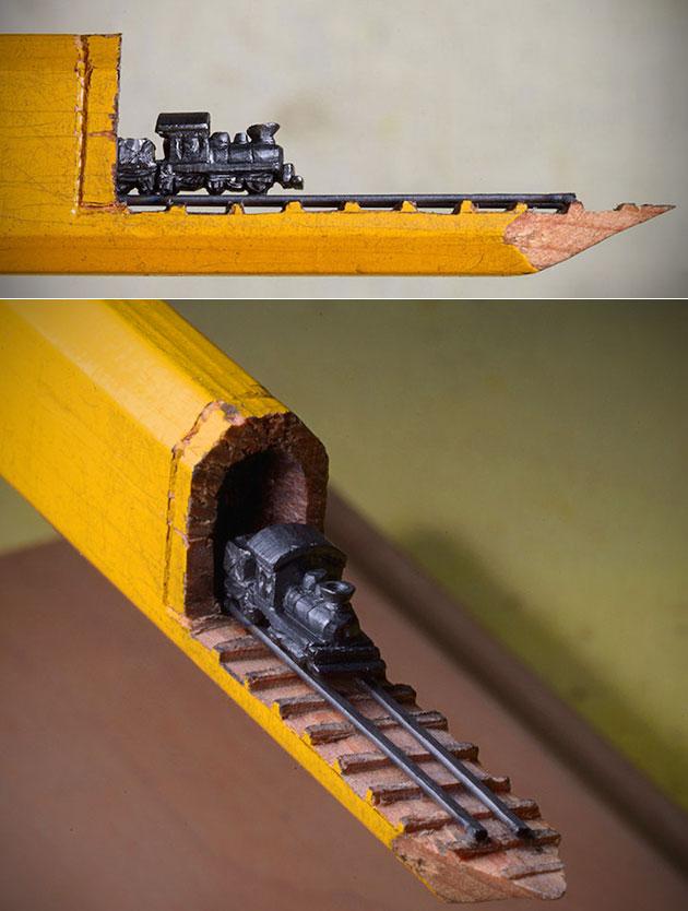Train Set Pencil