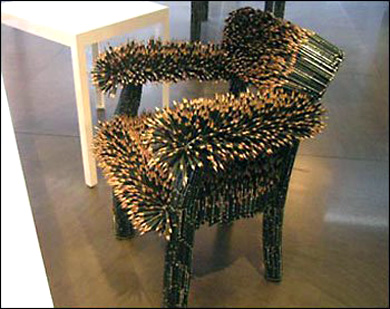 Beau Hereu0027s One Chair You Definitely Donu0027t Want To Sit On, Made Entirely Of  Sharpened Pencils. More Pictures After The Break. (Thanks, David)