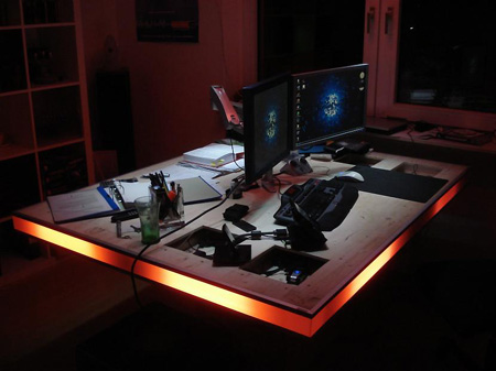 Called the Perfect Desk, this installation was created for the Emotionalize  Your Light competition, and features a host of LEDs.