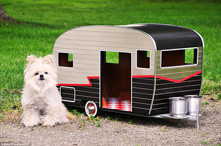 Customized License Plates >> Pet Camper for Dogs Looks Like a Miniature Caravan ...