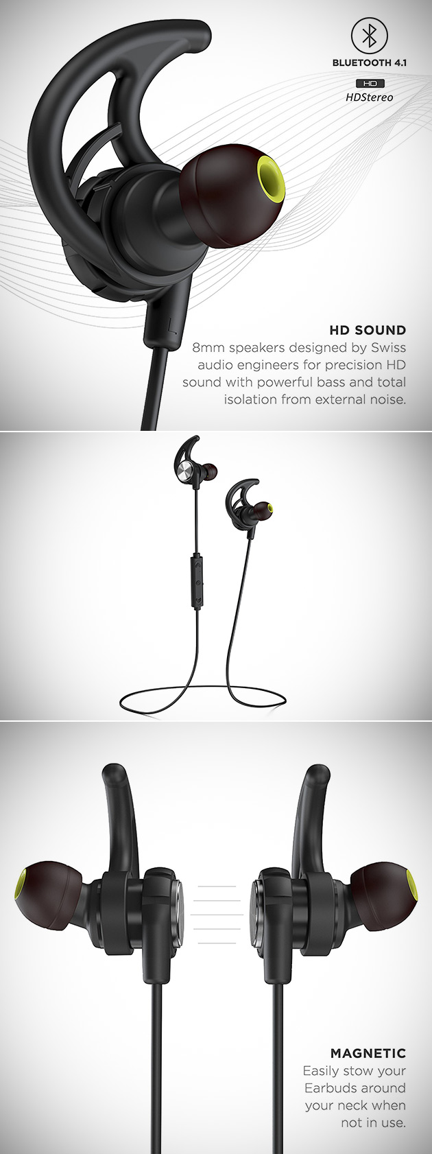 Phaiser BHS-750 Bluetooth Sport Headphones