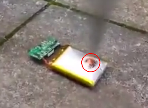 Phone Battery Explosion
