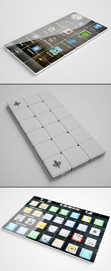 Mobikoma : Un téléphone modulaire, la tablette vous pouvez construire vous-même des carreaux