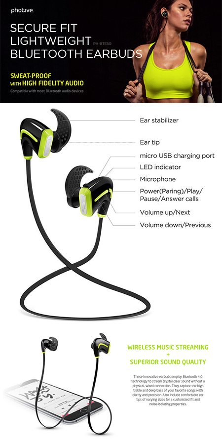 Photive Bluetooth Headphones
