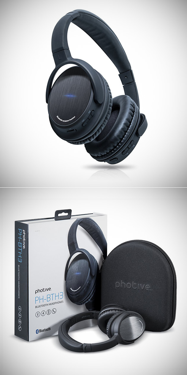 5fc78a30f45 Photive BTH3 Wireless Bluetooth 4.0 Headphones are Great for Travel ...