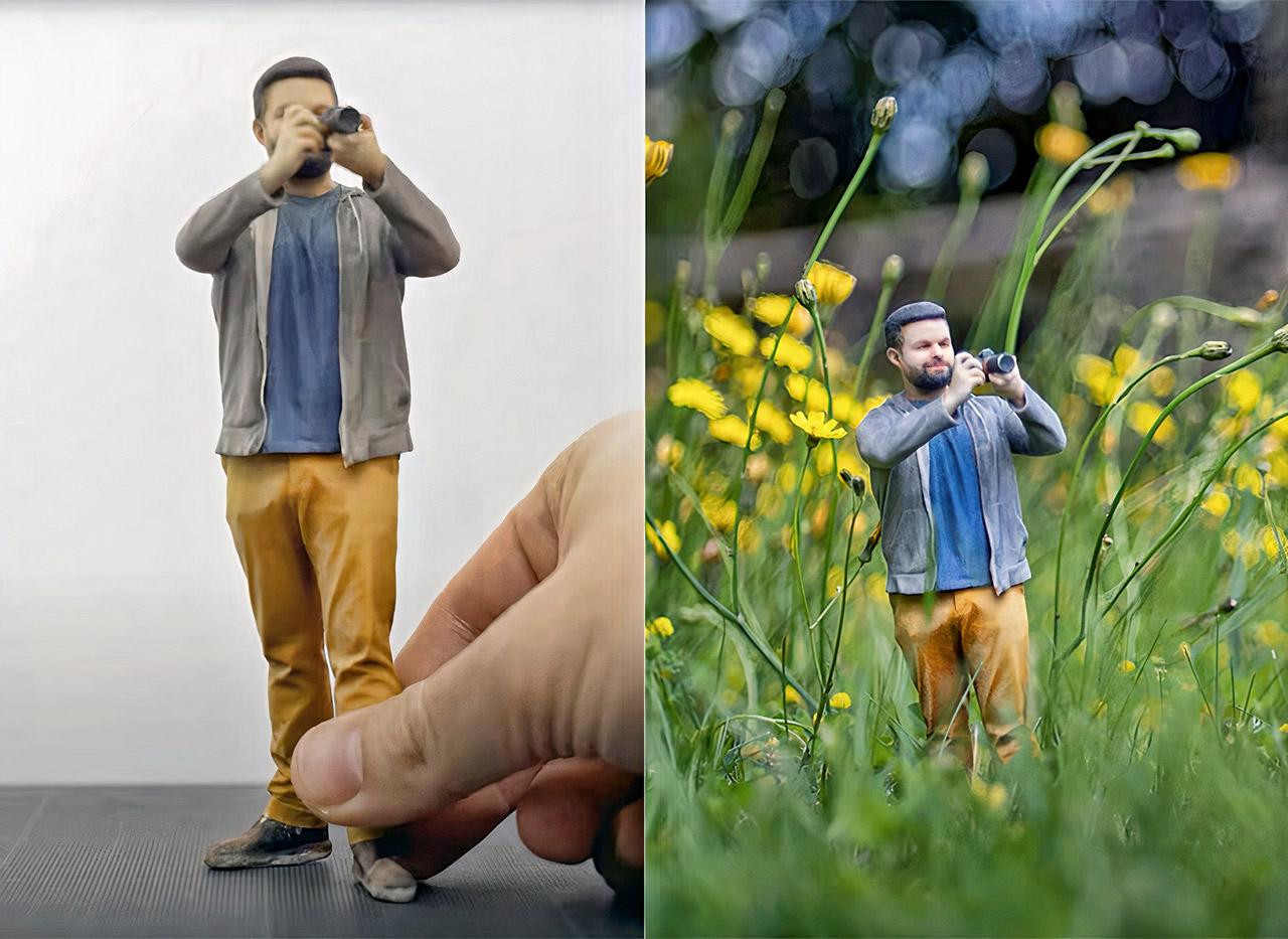 Photographer 3D-Printed Miniature