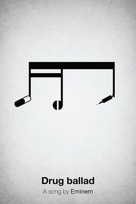 Minimalist pictogram music posters techeblog for Music minimal art