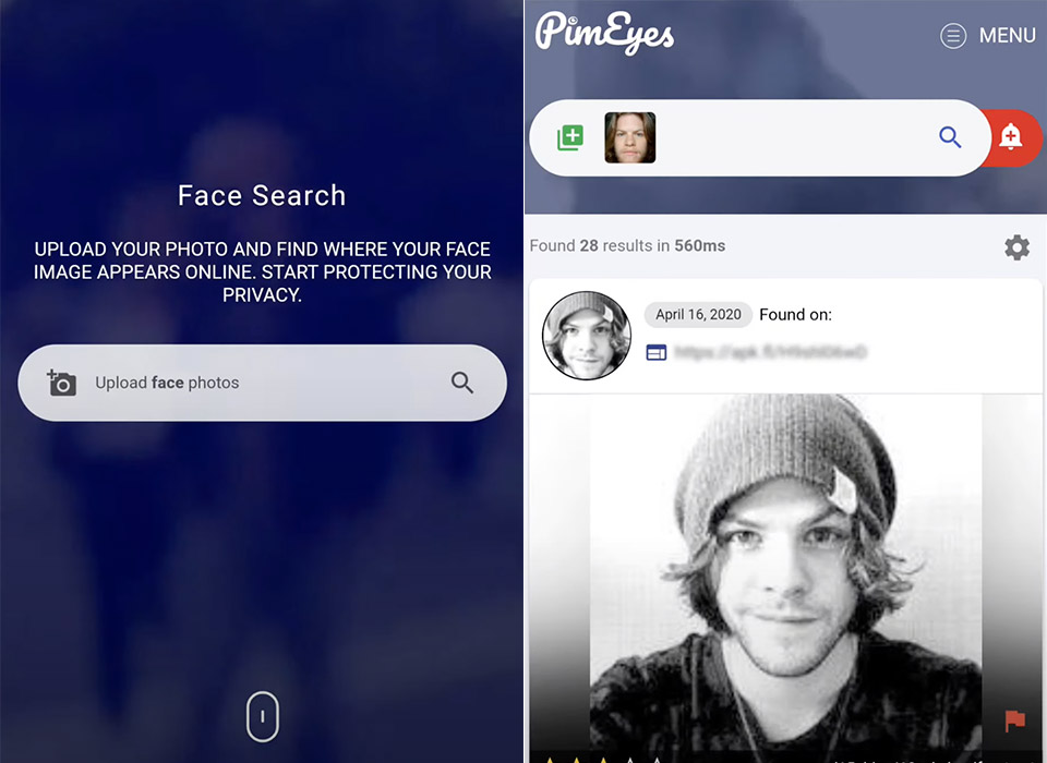 PimEyes Facial Recognition System Search Engine