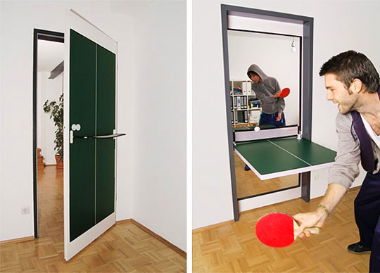 Creative Door That Doubles as a Ping Pong Table and 20 More Cool Multi-Purpose Gadgets & Creative Door That Doubles as a Ping Pong Table and 20 More Cool ...