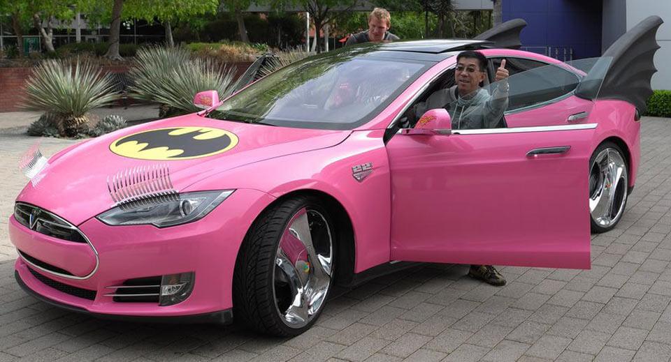 Pink Tesla Model S
