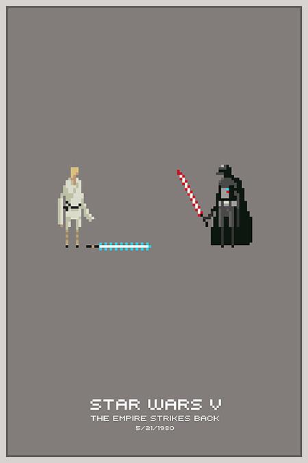 Creative Star Wars Comic Book Pixel Art Posters Techeblog