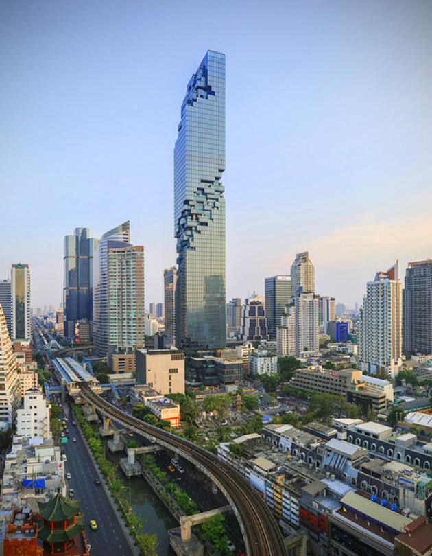 Pixelated Skyscraper Thailand