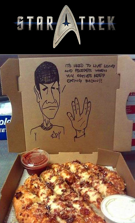 18 Geeky Pizza Box Drawings and Requests - TechEBlog