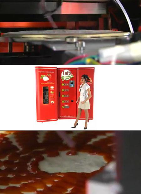 vending machine makes pizza