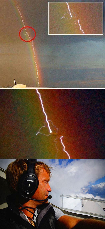 Plane Inside Rainbow
