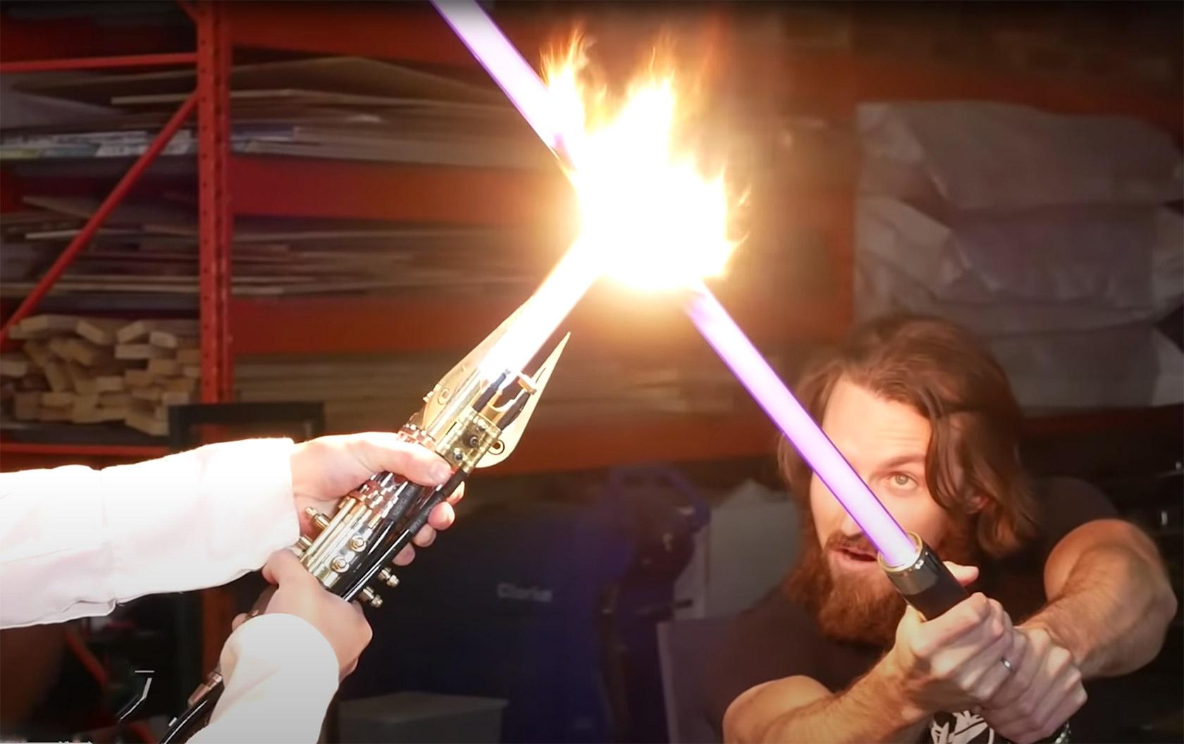 Plasma Lightsaber Test