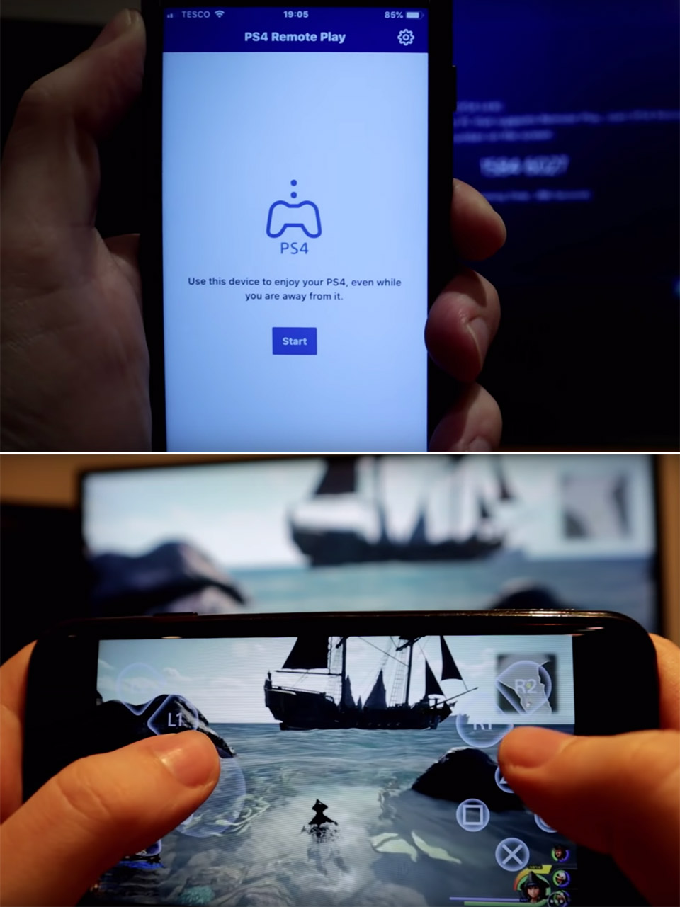 PlayStation 4 Remote Play iOS iPhone